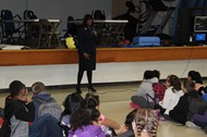 Lt. Governor Hampton Speaks with Fourth-Graders
