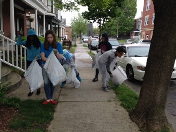 Students Clean Up Covington