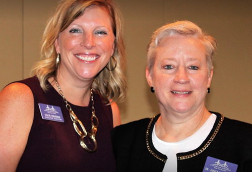 Partner's Executive Director Stacie Strotman and Dr. Janice Wilkerson, Founder,