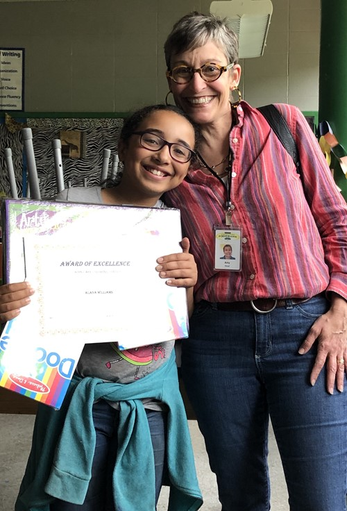 Ninth District Student Wins Coloring Contest!!