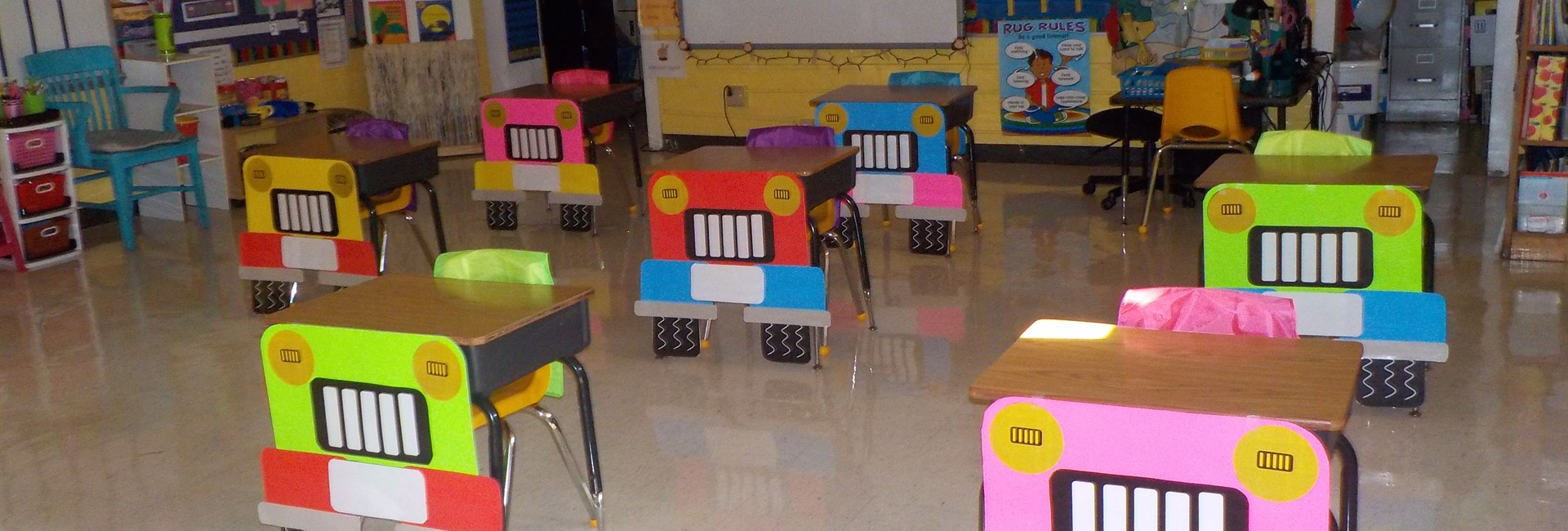 Beep Beep! Mrs. Brooks class is ready to learn!
