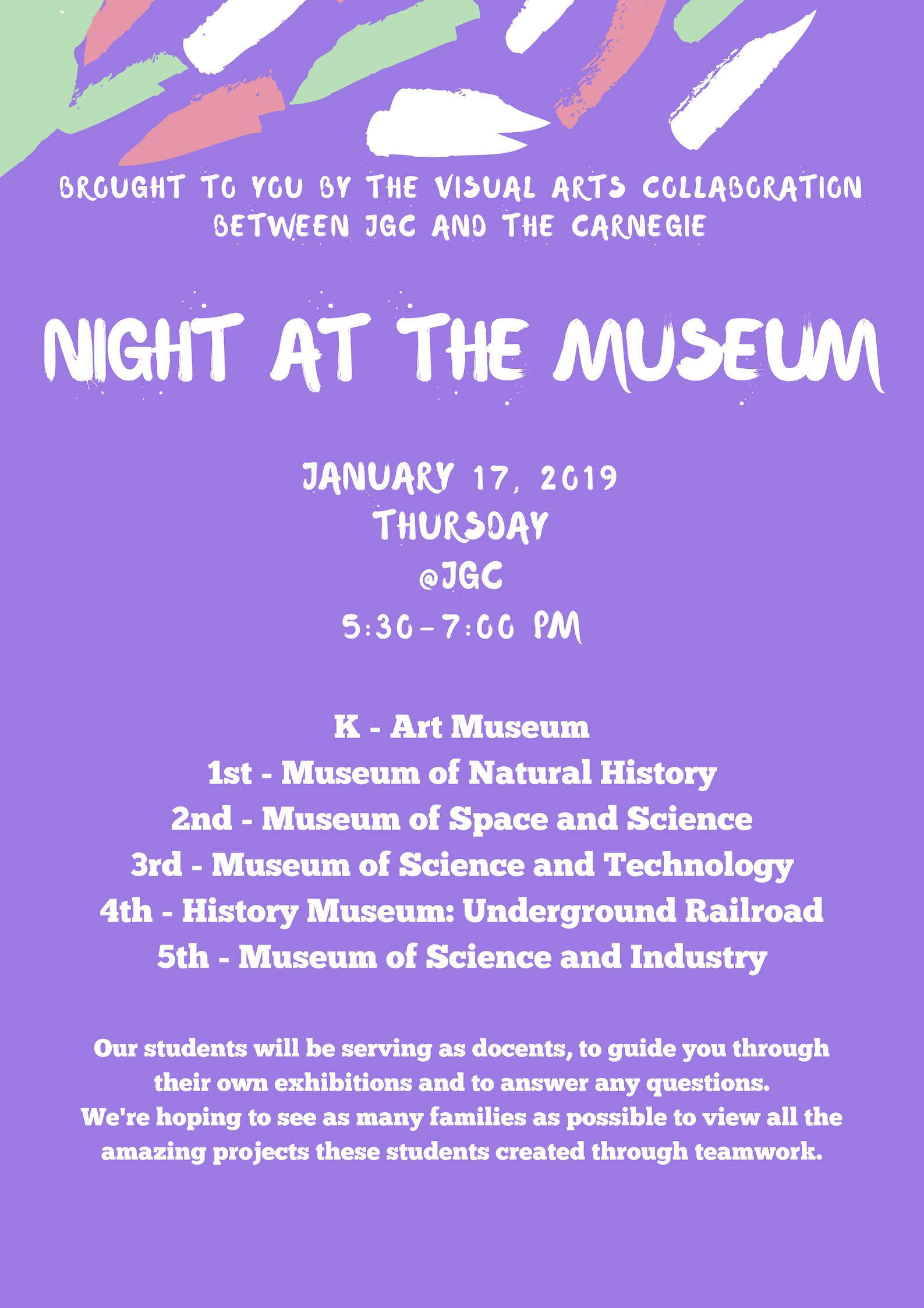 Night at the Museum Flyer