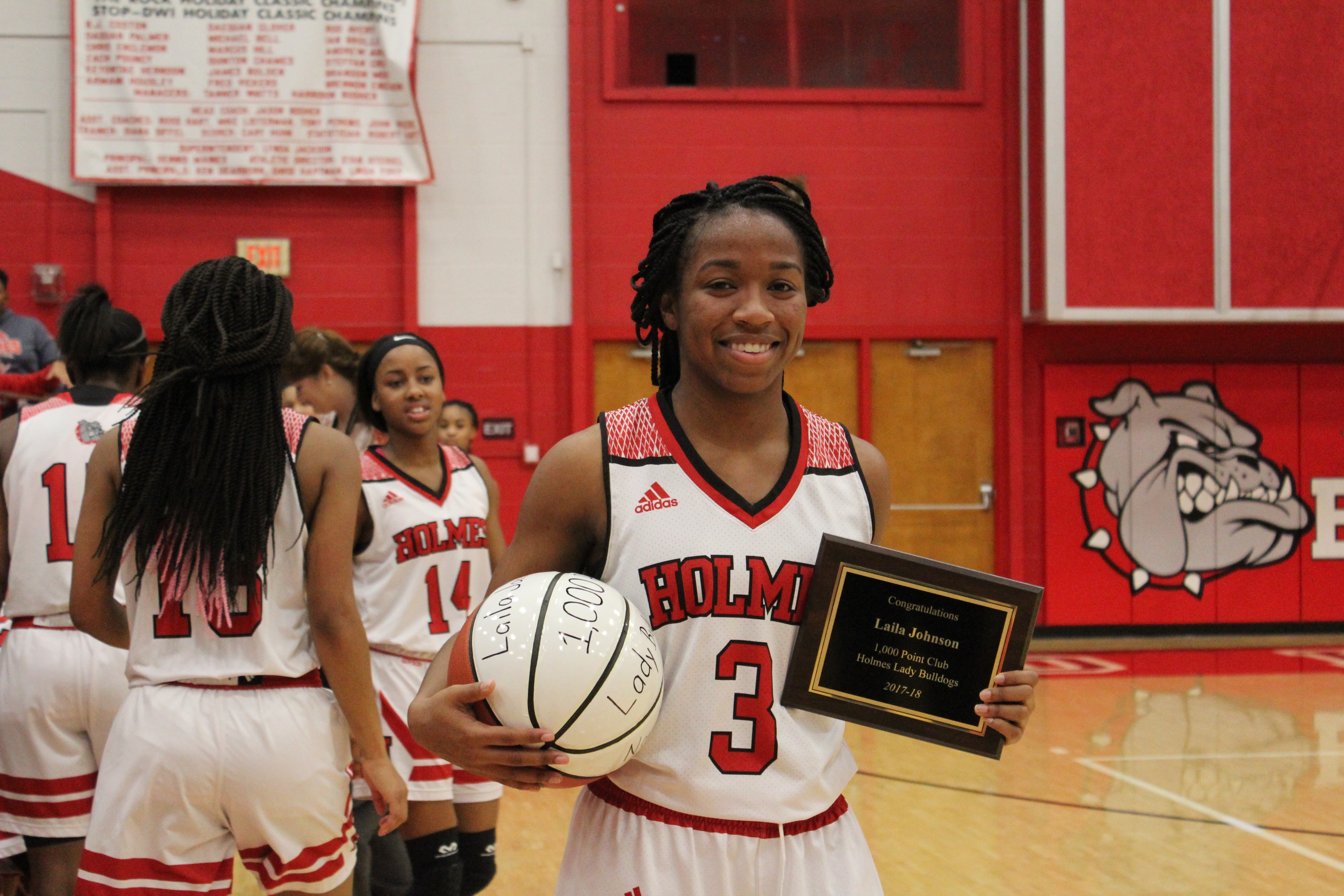 Laila Johnson Scores Her 1,000th Point