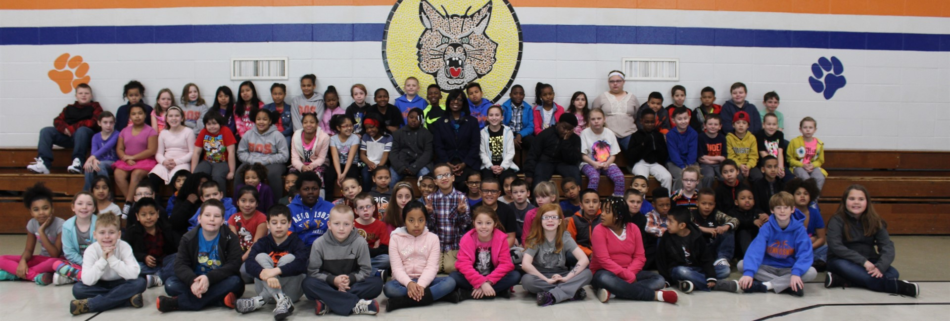Lt. Governor Jenean Hampton visits Glenn O. Swing Elementary School