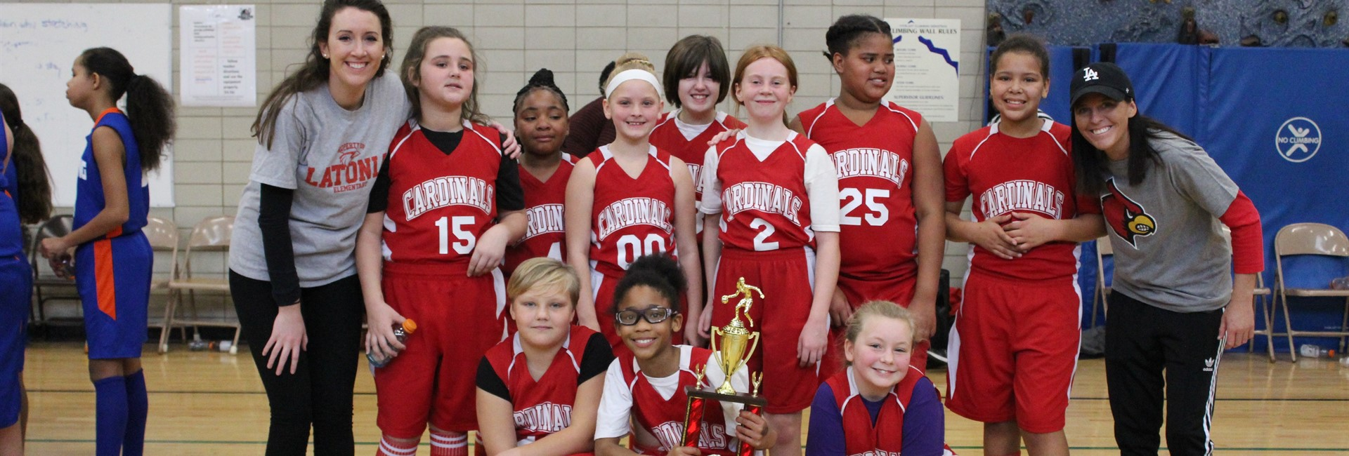 Latonia Elementary girls basketball team wins 1st place.