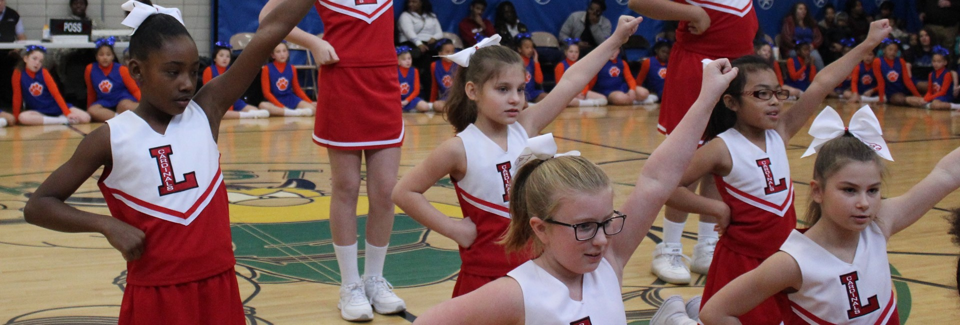 Cheerleaders Rockin' the Games